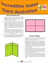Picture of Incredible Index Card Activities